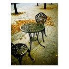 Fall Cafe Patio 02 Postcard
