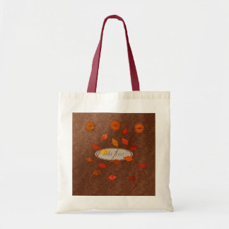 Fall Collection: Personalized Autumn Floral Tote