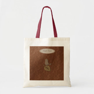 Fall Collection: Personalized Bird & Leaf Tote