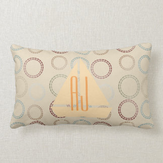 Fall Collection Sailing Boat Initials Beige Pillow