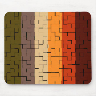 Fall Color Abstract Stripes Mouse Pad