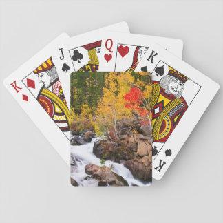 Fall color along Bishop Creek, CA Poker Deck