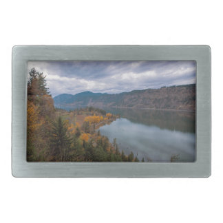 Fall Color along Columbia River Gorge Oregon Belt Buckle