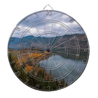 Fall Color along Columbia River Gorge Oregon Dartboard