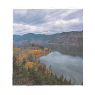 Fall Color along Columbia River Gorge Oregon Notepad