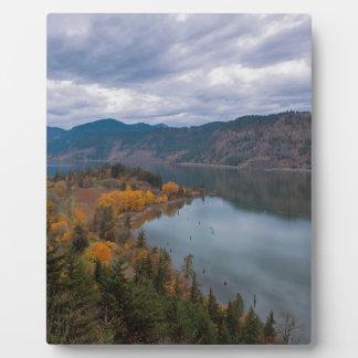 Fall Color along Columbia River Gorge Oregon Plaque