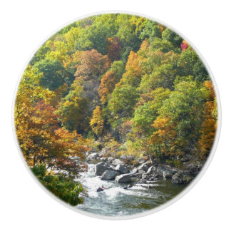 Fall Color at Ohiopyle State Park Ceramic Knob