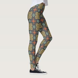 Fall Color Pattern Leggings