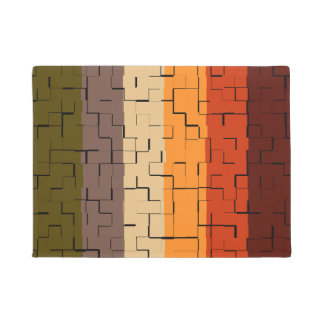Fall Color Stripes Doormat