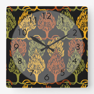Fall Color Trees Clock