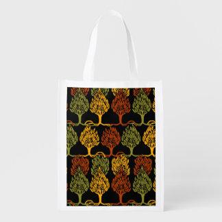 Fall Color Trees Reusable Grocery Bag