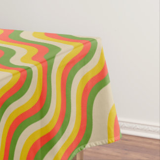 Fall Color Waves Cotton Tablecloth