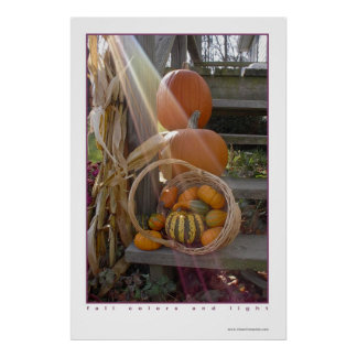fall colors and light poster