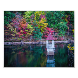 Fall Colors at the Berry College Reservoir Photo Print