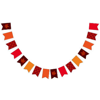 Fall Colors Bunting Flags
