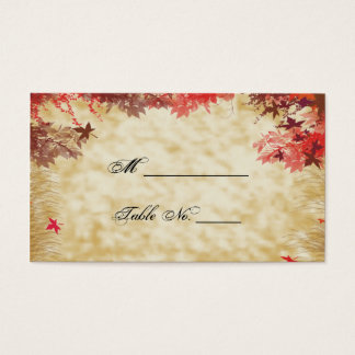 Fall Colors: Burgundy and Red Wedding Place Cards