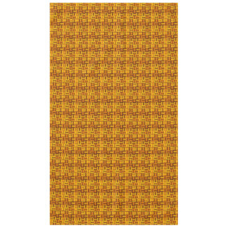 Fall colors, ceramic-look tiled pattern tablecloth