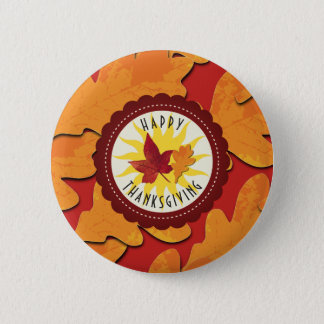 Fall Colors Happy Thanksgiving 2 Inch Round Button