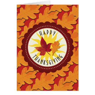 Fall Colors Happy Thanksgiving Card
