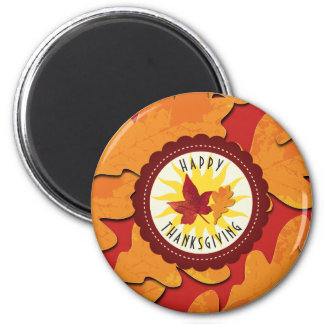 Fall Colors Happy Thanksgiving Magnet