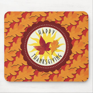 Fall Colors Happy Thanksgiving Mouse Pad
