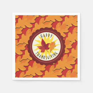 Fall Colors Happy Thanksgiving Paper Napkins