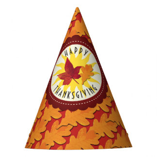 Fall Colors Happy Thanksgiving Party Hat