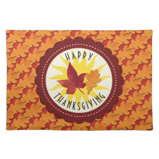 Fall Colors Happy Thanksgiving Placemat