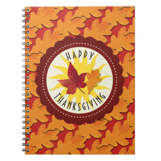 Fall Colors Happy Thanksgiving Spiral Notebook
