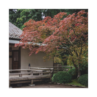 Fall colors in the garden canvas print