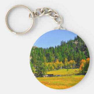 Fall colors in the Rockies Basic Round Button Keychain
