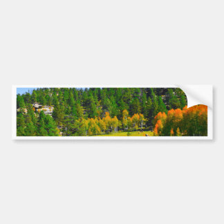 Fall colors in the Rockies Bumper Sticker