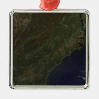 Fall colors in the southeastern United States Silver-Colored Square Ornament
