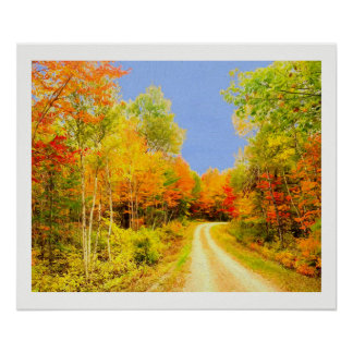 Fall Colors Maine Poster