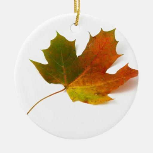 Fall Colors Maple Leaf Ornament