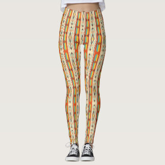 Fall Colors Native American Texture Leggings