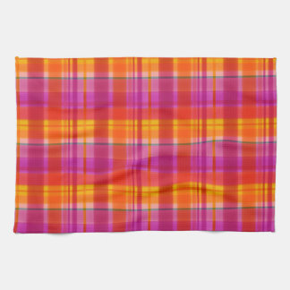 Fall Colors Plaid Kitchen Towel
