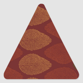 Fall Colors Remembered Triangle Sticker