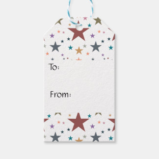 Fall Colors Stars Pack Of Gift Tags