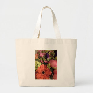 fall colours bouquet jumbo tote bag