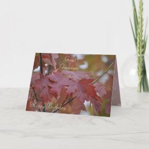 Fall Colours Great Grandma Birthday Card