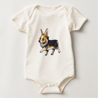 Fall Corgi Baby Bodysuit