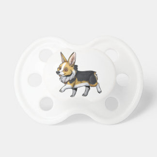 Fall Corgi Pacifier