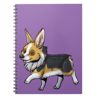 Fall Corgi Spiral Notebook