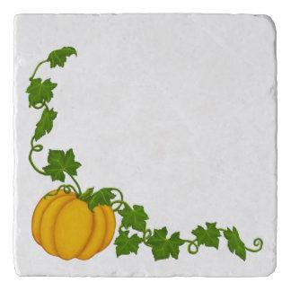 Fall Cream and Maroon Fleur Pumpkin Trivet