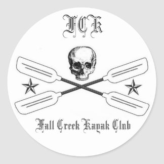 Fall Creek Kayak Logo Sticker