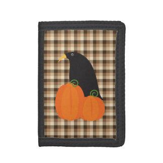 Fall Crow trifold nylon wallet
