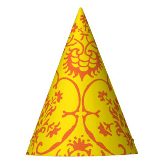 Fall Damask Party Hat