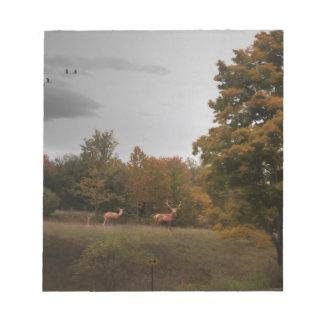 Fall Deer Notepad