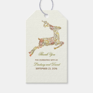Fall Deer Wedding Thank You Pack Of Gift Tags
